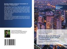 Buchcover von Dynamic Analysis of Energy Consumption of the Urban Transportation