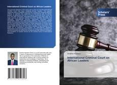Buchcover von International Criminal Court on African Leaders