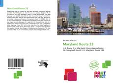 Capa do livro de Maryland Route 23
