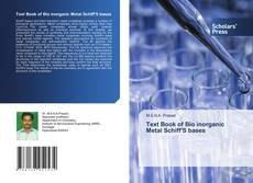 Buchcover von Text Book of Bio inorganic Metal Schiff'S bases
