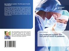 Capa do livro de Iraq healthcare system: The first year of covid-19 pandemic