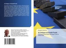 Buchcover von A Critique of Dodd-Frank