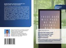 Bookcover of Covid-19 Crisis and Environmental Law -Opportunities for Improvement
