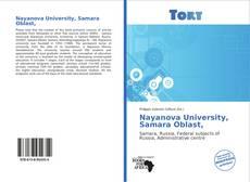 Capa do livro de Nayanova University, Samara Oblast,