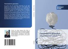 Bookcover of Thermoelectric generators