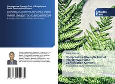 Bookcover of Compressive Strength Test of Polystyrene Paste Construction Cement