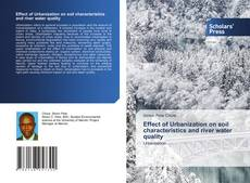 Capa do livro de Effect of Urbanization on soil characteristics and river water quality