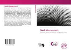 Bookcover of Weak Measurement