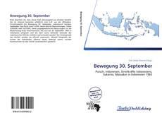Bookcover of Bewegung 30. September