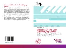 Weapons Of The Gods (Role-Playing Game)的封面