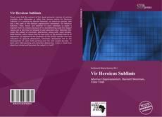 Capa do livro de Vir Heroicus Sublimis