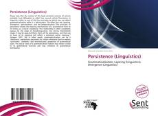 Bookcover of Persistence (Linguistics)