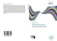 Обложка Person Of Christ