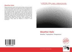 Capa do livro de Weather Hole