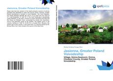 Bookcover of Jasionna, Greater Poland Voivodeship