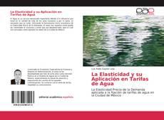 Portada del libro de La Elasticidad y su Aplicación en Tarifas de Agua