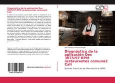 Portada del libro de Diagnóstico de la aplicación Dec 3075/97 BPM restaurantes comuna2 Cali