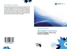 Couverture de Springhill, Louisiana