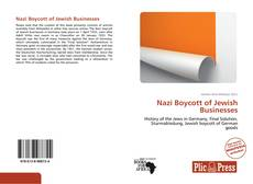 Capa do livro de Nazi Boycott of Jewish Businesses