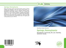 Bookcover of Springs, Pennsylvania