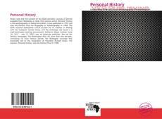 Capa do livro de Personal History