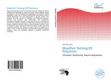 Обложка Weather Testing Of Polymers