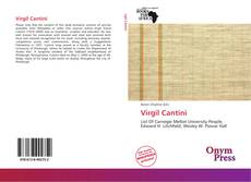 Bookcover of Virgil Cantini