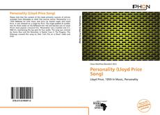 Bookcover of Personality (Lloyd Price Song)