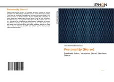 Bookcover of Personality (Horse)