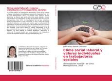 Copertina di Clima social laboral y valores individuales en trabajadoras sociales