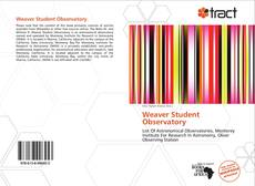 Capa do livro de Weaver Student Observatory