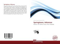 Capa do livro de Springtown, Arkansas
