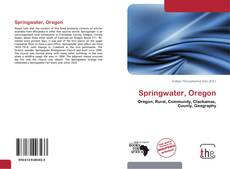 Bookcover of Springwater, Oregon