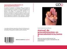 Borítókép a  manual de procedimientos en ginecobstetricia,tomo I. - hoz