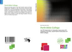 Bookcover of Perth Bible College