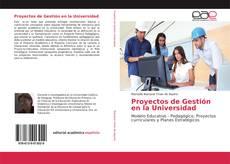 Bookcover of Proyectos de Gestión en la Universidad