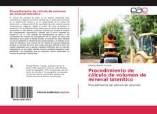 Couverture de Procedimiento de cálculo de volumen de mineral laterítico