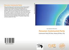 Bookcover of Peruvian Communist Party