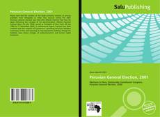 Bookcover of Peruvian General Election, 2001