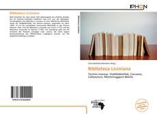 Обложка Biblioteca Liciniana