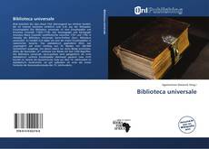 Buchcover von Biblioteca universale