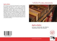 Bookcover of Aphra Behn