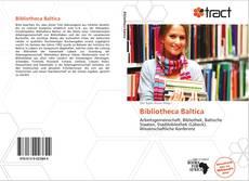 Bibliotheca Baltica kitap kapağı