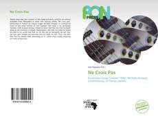 Buchcover von Ne Crois Pas
