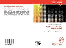 Bookcover of Pesticides Safety Directorate