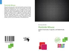 Buchcover von Pesticide Misuse