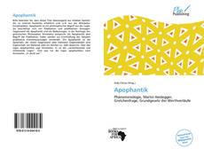 Portada del libro de Apophantik