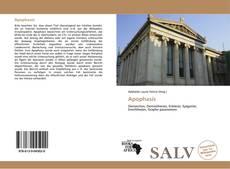 Capa do livro de Apophasis