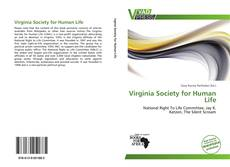 Bookcover of Virginia Society for Human Life
