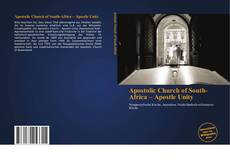Capa do livro de Apostolic Church of South-Africa – Apostle Unity
